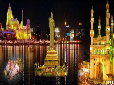 hyderabad city tour, sightseeing of hyderabad, charminar, chow-mahalla palace, golconda fort, salarjung museum, ramoji film  city tour