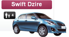 swift dzire, car rental hyderabad, rent a car swift dzire